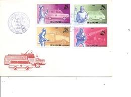 Secourisme ( FDC De Corée Du Nord De 1989 à Voir) - Primeros Auxilios