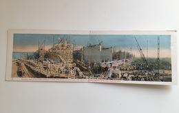 Klappkarte Dubbel Postcard Americain Navy Marine Ships For Victory 4 Juli 1918 Tidal Wave Launch 95 Ships - Guerra 1914-18