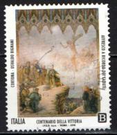 ITALIA - 2018 - CENTENARIO DELLA VITTORIA - CORTONA - OSVALDO BIGNAMI: AFFRESCO A RICORDO DEI CADUTI - PAINTING - USATO - 6. 1946-.. Repubblica