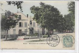 45 BRIARE . Monument De La Défense De 1870 , Colorisée , édit : Breger Frères , écrite En 1903 , état SUP - Briare
