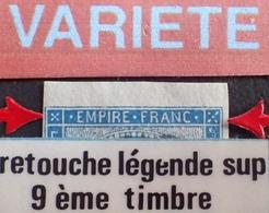 R1917/106 - NAPOLEON III N°14B BdF - PC 2199 : MULHOUSE (haut Rhin) - VARIETE ➤➤➤ Retouche Légende Sup (RARE) - 1853-1860 Napoleon III