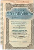 Ancien Titre - Compagnie Industrielle Africaine -Titre De 1927 - N° 02112 - Afrika