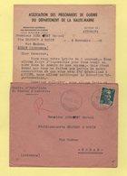 Marianne De Gandon - Auberive - Haute Marne - Prisonniers De Guerre - 9-11-1945 - Poststempel (Briefe)