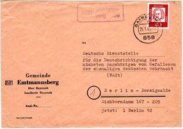 BRD 1963, Landpost Stpl. 8581 EMTMANNSBERG Auf Brief M. 20 Pf. V. Bayreuth - BRD