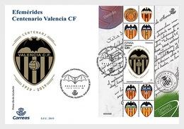 H01 Spain 2019 Centenary Of Valencia Club De Fútbol FDC - 1931-Heute: 2. Rep. - ... Juan Carlos I