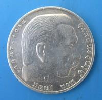 ALLEMAGNE 5 Reichsmark 1936 F, Aigle / Maréchal Paul Von Hindenburg, TTB - [ 4] 1933-1945 : Third Reich