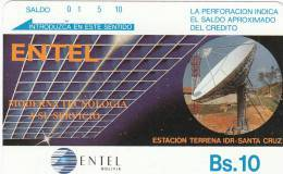 BOLIVIA(Tamura) - Earth Station/Santa Cruz, Used - Bolivië