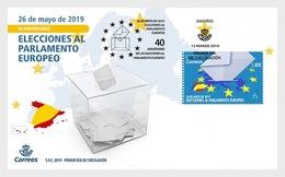 H01 Spain 2019 40th Anniversary Of European Parliament Elections  FDC - 1931-Heute: 2. Rep. - ... Juan Carlos I