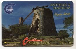 ANTIGUA & BARBUDA CARAIBES MV Cards ANT-4A  Sugar Mill 10$ CN 4CATA - Antigua En Barbuda