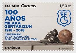 H01 Spain 2019 Centenary Federación Guipuzcoana De Fútbol MNH Postfrisch - 1931-Heute: 2. Rep. - ... Juan Carlos I