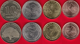 Argentina Set Of 4 Coins: 1 - 10 Pesos 2017-2018 UNC - Argentina