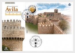 H01 Spain 2019 World Heritage Ávila FDC - 1931-Heute: 2. Rep. - ... Juan Carlos I
