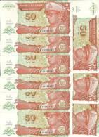 ZAIRE 50 NOUVEAUX MAKUTA 1993 UNC P 51 (10 Billets) - Zaïre