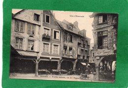 22 - DINAN - VIEILLES MAISONS, RUE DE L'APPORT - N°589 - CPA Année 1918  ANIMEE  EDIT  E L D. Impeccable - Dinan