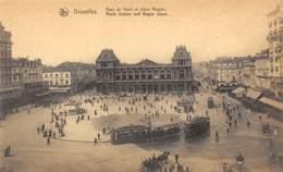 BRUXELLES - Gare Du Nord Et Place Rogier - Spoorwegen, Stations