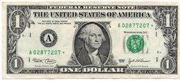 USA= BOSTON  2003   1  DOLLAR   STAR  NOTE  VF/X FINE - Federal Reserve Notes (1928-...)