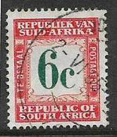 South Africa, 1961, 6 Cents, Dark Green & Orange, Postage Due, Used - Afrique Du Sud (1961-...)