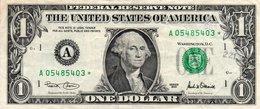 USA= BOSTON  2001   1  DOLLAR   STAR  NOTE  VF/X FINE - Federal Reserve Notes (1928-...)