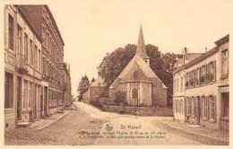 St HUBERT - Rue St Gilles, Au Fond L'Eglise St. Gilles Du XIe Siècle - Saint-Hubert
