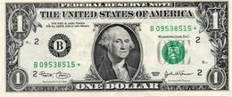 USA= NEW YORK    2003   1  DOLLAR   STAR  NOTE  VF/X FINE - Federal Reserve Notes (1928-...)