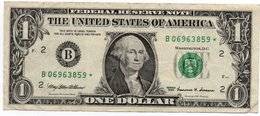 USA= NEW YORK    1999   1  DOLLAR   STAR  NOTE  VF/X FINE - Federal Reserve Notes (1928-...)