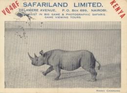 Kenya QSL Postcard Posted 1950 To Italy - Radio