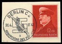 DEUTSCHES REICH 1941 Nr 772x Zentrisch Gestempelt Briefstück X8B027A - Allemagne