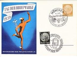 PROPAGANDA  CARD  DAY OF THE STAMP  MUNCHEN  Cd. - War 1939-45