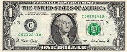 USA= PHILADELPHIA    2001   1  DOLLAR   STAR  NOTE  VF/X FINE - Billets De La Federal Reserve (1928-...)