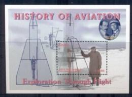 Ghana 2003 History Of Aviation, Rxploration Through Flight MS MUH - Ghana (1957-...)