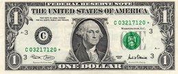 USA= PHILADELPHIA    2001   1  DOLLAR   STAR  NOTE  VF/X FINE - Bilglietti Della Riserva Federale (1928-...)