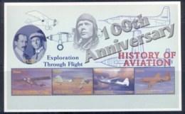 Ghana 2003 History Of Aviation, Rxploration Through Flight Sheetlet MUH - Ghana (1957-...)