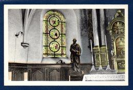 Izel.(Chiny). Intérieur De L'église Saints Pierre Et Paul. Statue De St. Pierre Et Son Vitrail - Chiny