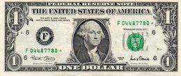 USA= ATLANTA GEORGIA    2001   1  DOLLAR   STAR  NOTE  VF/X FINE - Federal Reserve Notes (1928-...)