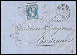 8629 LAC Entete Glace N 14B Napoleon 20c 1860 Pc 83 Angouleme France Lettre (cover) - Storia Postale