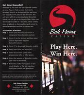 Bok Homa Casino - Heidelberg, MS - Player Rewards Brochure - Casino Cards