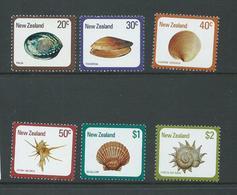 New Zealand 1978 - 79 Shells Set 6 MNH - Unused Stamps