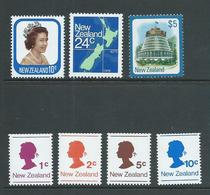 New Zealand 1977 Definitives & Coils To $5 Parliament House MNH - Unused Stamps