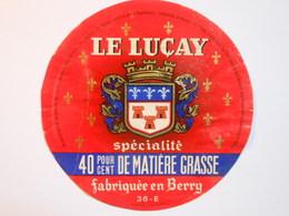 A-36101c - Etiquette De Fromage - LE LUCAY - LUCAY LE MALE - Indre 36E - Formaggio