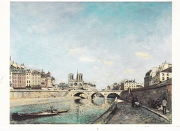 Johan Barthold Jongkind The Seine At Notre Dame Paris Postcard Used Good Condition - Paintings