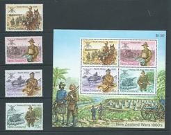 New Zealand 1984 Armed Forces Campaigns Set 4 & Miniature Sheet MNH - Unused Stamps