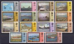 COLONIE INGLESI FALKLAND DEPENDENCIES SUD GEORGIA 1980 ORDINARIA YVERT. 77-91 MNH XF - Georgia Del Sud