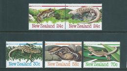 New Zealand 1984 Reptiles & Amphibians Set 5 MNH - New Zealand