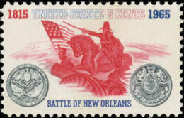 1965 USA Battle Of New Orleans 150th Anniversary Stamp Sc#1261 Horse Flag Gun Famous General Andrew Jackson - History