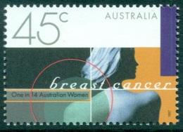 Australia 1997 MNH, Breast Cancer Prevention, Disease, Medicine, Health  (n) - Krankheiten