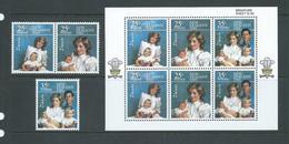 New Zealand 1985 Royal Family Set Of 3 - Pair & 2 Singles & Miniature Sheet MNH - New Zealand