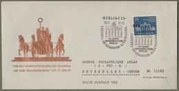 """DDR: Gedenk-Brief, Schmuckbrief Mit Mi-Nr  666 SST: """" Berlin Brandenburger Tor - Wiederaufstellung Der Quadriga """" X - Storia Postale"""