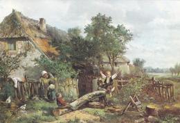 Johan Mari Ten Kate Cildren By A Cottage Postcard Used Good Condition - Peintures & Tableaux