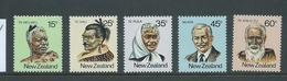 New Zealand 1980 Prominent Maoris Set 5 MNH - New Zealand