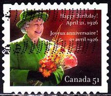 CANADA 2006 QUEEN ELIZABETH II  HAPPY BIRTHDAY USED YT 2201 MI 2318 SC 2142 - Gebraucht